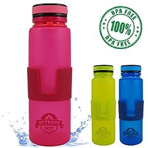 Bouteille d'eau démontage et pliable, sans silicone BPA, 650ml, 22 oz, repliez-la pour libérer de l'espace