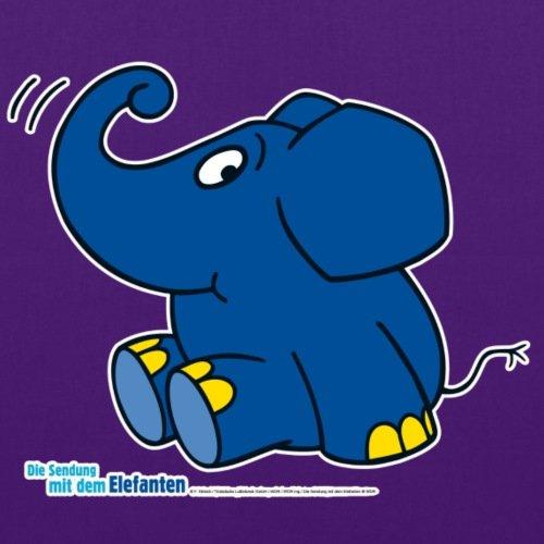Spreadshirt Kleiner Elefant Stoffbeutel Lila