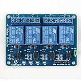 SunFounder Relay Module 4 Kanäle Relais Modul Brett 5V für Arduino UNO 2560 1280 ARM PIC AVR STM32 hergestellt von SunFounder