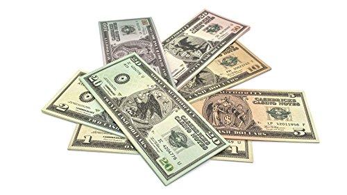 7 x 10 Spielgeld DOLLAR Scheine (1$-100$) Set Cashbricks®