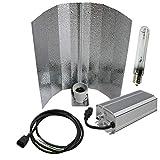 Cultivalley 600W Grow-Set, Premium Profi Pflanzenbeleuchtung, 400W - 660W Dimbar Bausatz mit NDL Natriumhochdruck-Leuchtmittel für die Blüte HPS, Pflanzenlicht