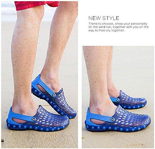 GLTER Herren Loafers Schuhe Breathable Sandalen 2017 Sommer Neue Casual Schuhe Große Größen Schuhe Clogs Blue