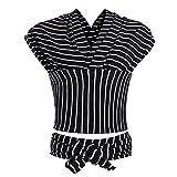 Liliannh Babytragetuch - elastisches Tragetuch für Früh- und Neugeborene Kleinkinder - inkl. Baby Wrap Carrier Anleitung - Schwarz Weiß Streifen