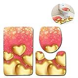 Missrui 3-Piece Badteppich, waschbar Bad Dusche mit extra Soft mit Doormats, Wanne, Dusche Five