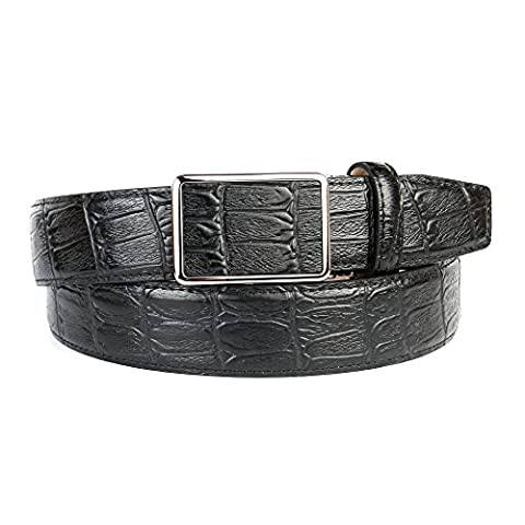 Anthoni Crown Men's 17K10 Belt, Schwarz (Schwarz 010), 115