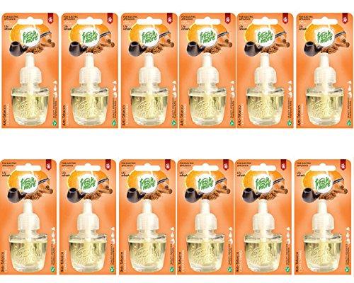 12x Fresh&More Nachfüllflakons Anti Tabak - Cedar&Orange Für E-Duftstecker -19ml