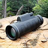 Berry Prevent Telescope Slipping from Your Hand Great Portability 40X60 HD Monocular Waterproof & Fogproof Optical Lens 40x Binoculares Zoom Outdoor Telescope with Stand
