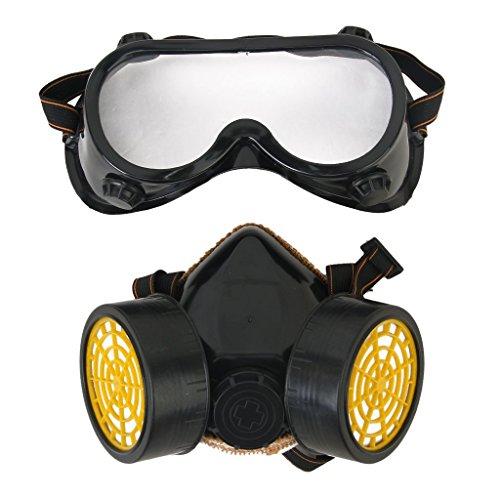 Industrie Gas chemischen Anti-Staub malen Atemschutzmaske Maske + Brille Brillen (Maske Chemische)