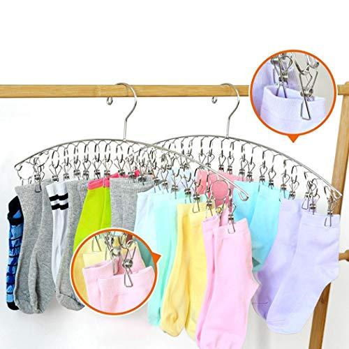 Acecoree Handtuchklemmen Strandtuchklammern Handtücher Towel Clips Wäscheklammern Edelstahl Sockenhalter mit Clips Windproof Socks Dry Rack Wäscheklammern -