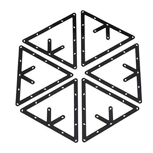 Zetiling Magic Rack Sheet, Billardtisch Triangle Ball Holder Geeignet für 8, 9, 10 Ball Billardtisch Pool Queue Zubehör -