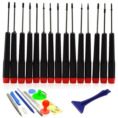 Acenix Universal-Reparaturset,Schraubendreher- & Werkzeug-Set für MacBook Pro Air Retina, 27-teilig - F Werkzeuge