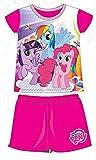 My Little Pony Charakter 2-teilig Sommer T-Shirt und Shorts Set Official Merchandise Fuchsia Pink Größe: 2anni–92cm