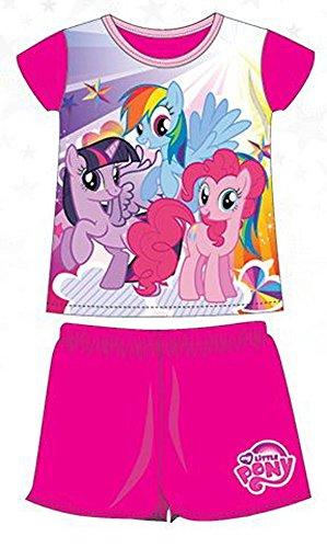 My Little Pony Pigiama Estivo 2 pezzi Maglietta e Pantaloncino Prodotto Ufficiale [2 Anni - 92 cm - Fucsia]