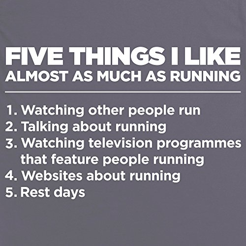 Five Things I Like - Running T-Shirt, Damen Anthrazit