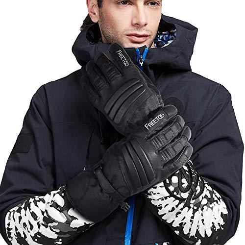 FREETOO Verstärkte Taktische Handschuhe mit PU-Leder + Nylon Design-Ideen für Fahrradfahren, Schießen, Fahren und andere Outdoor-Aktivitäten (Schwarz) - 7