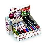 edding 4-51538 Calligraphy Xmas Display Pen und Marker, 38 Teile, Karton, 180 x 90 x 200 mm
