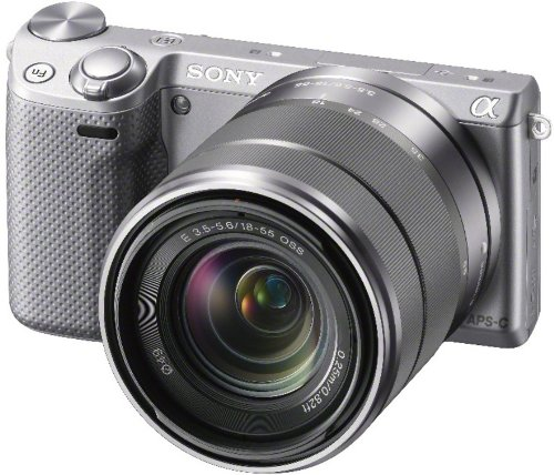 Best Sony NEX5RKS Compact System Camera Zoom Kit – Silver (16.1MP, SEL 18-55mm Lens) 3 inch LCD Screen Special