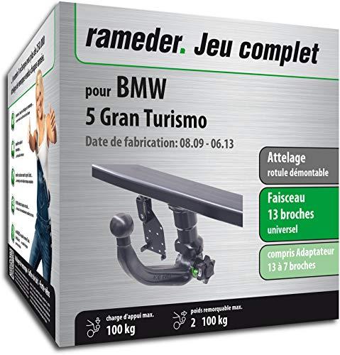 Rameder Attelage rotule démontable pour BMW 5 Gran Turismo + Faisceau 13 Broches (159857-08274-1-FR)
