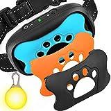 GoPetee Neuste 3in1 Anti-Bell Halsband für Hunde Ohne Schock Spray Vibrationshundehalsband,Hundebellen Stoppen mit Ton & Vibration,7 Verstellbare Stufen,sicher und Harmlos (b.Lademodus) (A)