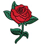 TENNER.LONDON Floral rose Iron/Sew On Embroidered Patch Applique Embroidery Motif transfer