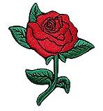 TENNER.LONDON gestickte Rosenblüte zum Aufbügel/Aufnähen, Stoff für Bastelprojekte.