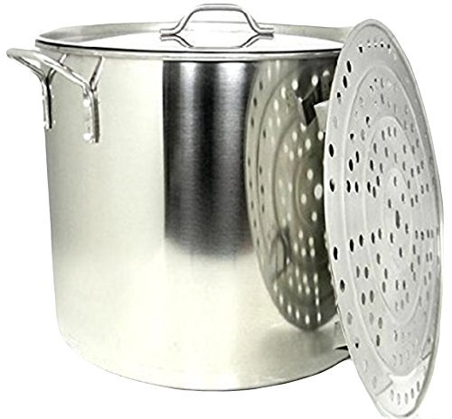 80 qt stainless steel stock pot with rack and lid by Ballington (Pot Stock Quart 80)