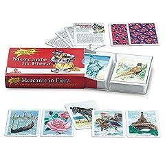 Idea Regalo - Juego - Mercante in Fiera Display I Set di Carte Originali Mercante in Fiera I 100% Plastica Resistente I Alta qualità I per Bambini- Multicolore