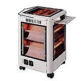 Termoventilatori Barbecue Riscaldamento Riscaldatore Griglia Tipo Home Mute Quattro Piccole Forni di Sun Riscaldamento Elettrico, White, Big