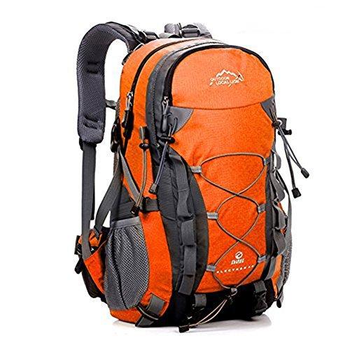 Imagen de erwaa 40l  de senderismo deportes al aire libre multifunción bolsa impermeable ciclismo montaña excursionismo alpinismo trekking viajes campamento para unisex