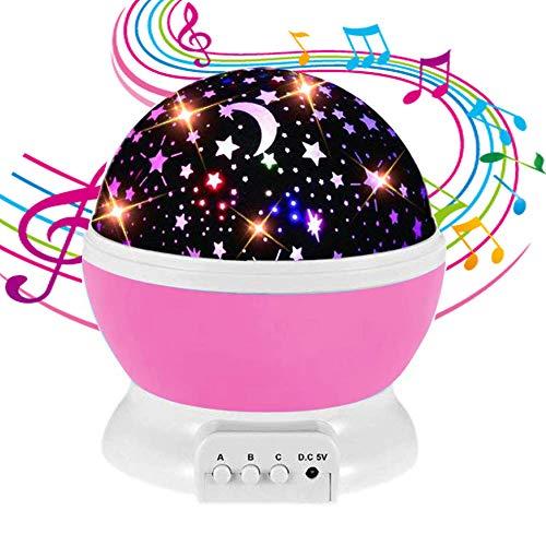 NEEGO Proyector Luz Noche Bebé Estrella Música Recargable
