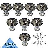 Tencro 8 piezas 30 mm en forma de diamante perillas de cristal de lujo