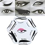 #1: Gugzy® Siempre21 6 Styles of Eyeliner Stencil Models for the perfect Eyeline, Cat Eyeliner, Double Wing, Extravagant Cat, Arabic Eyeliner