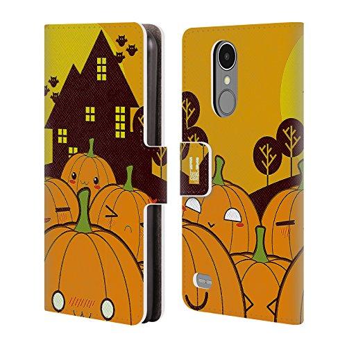 Head Case Designs Kürbis Im Ganzen Halloween Kawaii Brieftasche Handyhülle aus Leder für LG K8 (2017) / M200N