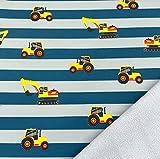 0,5m Softshell Bagger auf Streifen grau-blau -