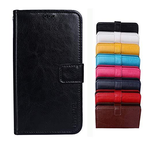 COVO® für TP-LINK Neffos C5A Hülle,Brieftasche Handyhülle,Flip Hülle Wallet Stylish mit Standfunktion und Magnetisch PUtasche Schutzhülle handyhüllen passt für TP-LINK Neffos C5A(Schwarz)
