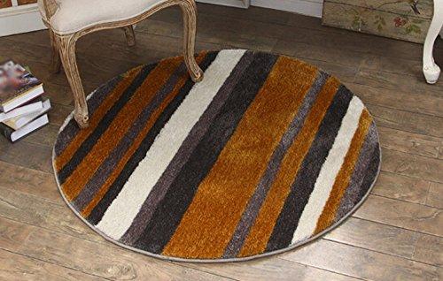 hjhy® Teppich, europäischen Stil Teppich rund Wohnzimmer Couchtisch Tablet Bett, das Kissen Bett Thelma Computer Stuhl Kissen Hängematte Yogamatte Teppich amerikanischen 150 * 150cm braun (Braun Kofferraumwanne)