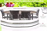 Florabest® Gartentisch Abdeckung Schwarz/Weiß HG00182A
