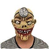 Máscara YN Bioquímica Zombie Momias Aplastar Miedo Horror Lámpara Minero Fantasma Látex Peluca Cosplay Apoyos de película Halloween
