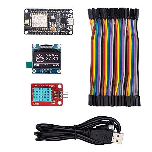 ESP8266IOT Elektronik Starter Kit con umfangreicher instrucciones–nodemcu controlador–Pantalla OLED–Cable
