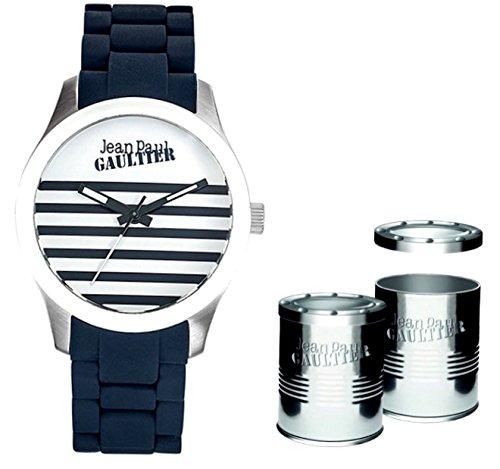 Jean Paul Gaultier JP_8501119 - Reloj Analógico Para Hombre, color Blanco/Azul