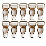 Jelinda del corsetto di bretelle sul tuo Garter Clips Grips Weiß-5 Paar Taglia unica