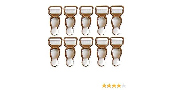 10er Set Gurtband Haken Schnuller Hosenträger befestigt Strumpfhalter