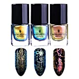 Born Pretty 3 Bottles Nail Art Chameleon Stamping Polish New Style Animal Manicure Plate Printing Lacquer Varnish Black Base Needed