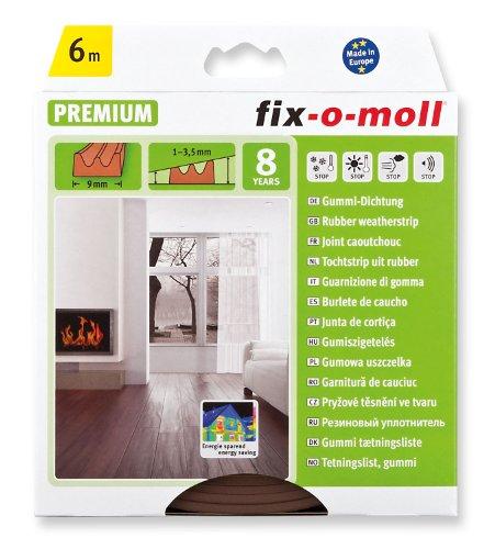 FIX-O-MOLL Guarnizione Espansa Adesiva Porte / Finestre Sezione E 4 x 9 Mm Marrone 6 M