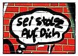 Postkarte A6 +++ STREET ART von modern times +++ EHRE WEM EHRE GEBÜHRT +++ TOM BÄCKER