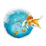 GRAZDesign Wandtattoo Bad - Wandbilder Aquarium mit Fische - Glitzer Wandtattoo Goldfisch / 40x30cm / 851097_30
