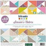 Artemio 11001880 Set de 180 Feuilles pour Scrapbooking Papier Multicolore 30,5 x 2,29 x 30,5 cm