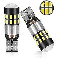 POMILE LED Ampoules de Voiture T10 W5W DC12V - 24V 3014 Chipsets LED Veilleuse Canbus Sans Erreur Voiture Lampe,Feu De Stationnement 2pcs