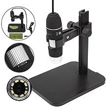 JZHY 1000x Microscopio microscopio ¨®ptico USB 8 LED-endoscopio Digital con