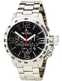 TW Steel CB8Herren Kantine Armband Silber Band Schwarz Zifferblatt Armbanduhr